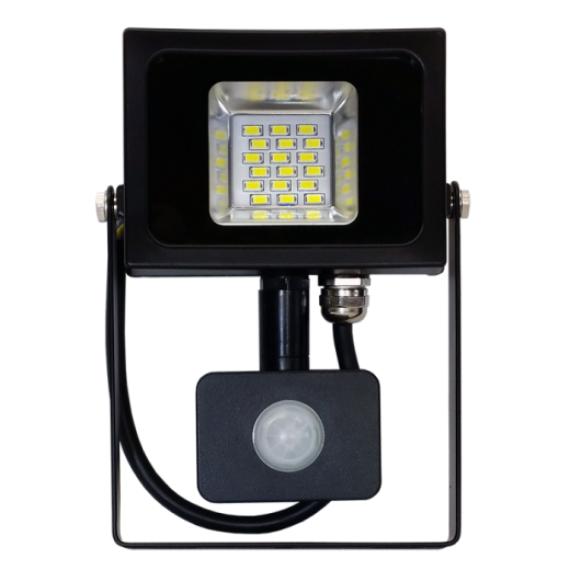LED reflektor so senzorom - 10W Premium, 800 - 1000lm, Studená biela