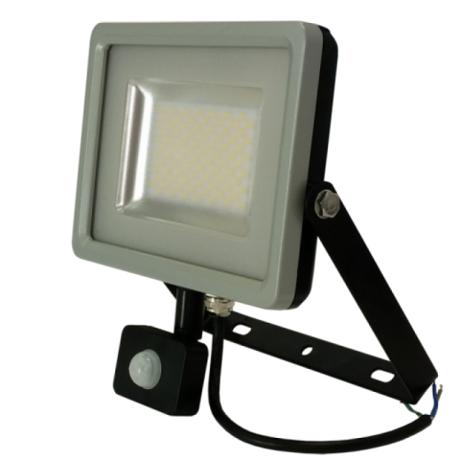LED reflektor so senzorom - 30W Premium, 2400lm, Teplá biela