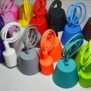 Moderné silikónové svietidlá vo farbách