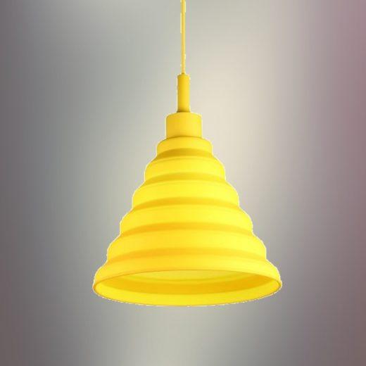 Moderný-závesný-silikónový-luster-s-textilnou-šnúrou-v-žltej-farbe