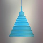 Moderný-závesný-silikónový-luster-s-textilnou-šnúrou-v-modrej-farbe