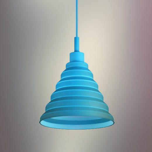 Moderný-závesný-silikónový-luster-s-textilnou-šnúrou-v-modrej-farbe2
