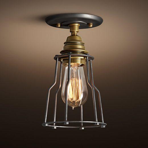 Historické-stropné-svietidlo-Cage-v-retro-dizajne