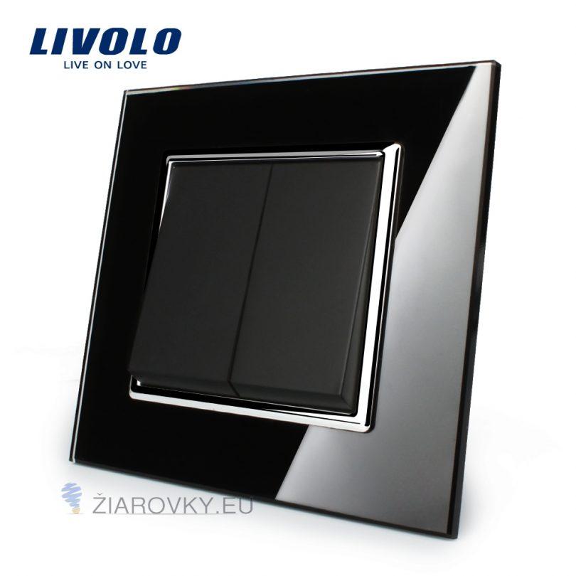 Luxusný lustrový vypínač s lesklou sklenenou mechanickou plochou. Doprajte svojmu domovu eleganciu a luxus pomocou tohto elegantného vypínača