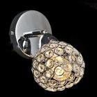 Moderné nástenné kryštálové svietidlo v striebornej farbe na žiarovky typu E14 je svietidlo určené na stenu v modernom vzhľade