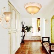 Luxusné-stropné-svietidlo-Dvojitý-Tanier-s-ručnou-maľbou-3