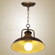 Historické závesné svietidlo Personal v bronzovej farbe1