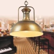 Historické závesné svietidlo Personal v bronzovej farbe2