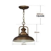 Historické závesné svietidlo Personal v bronzovej farbe3