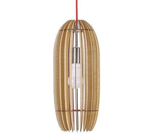 Originálne závesné drevené svietidlo z kolekcie iWood - DRUM