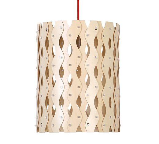 Originálne závesné drevené svietidlo z kolekcie iWood - MOIRE