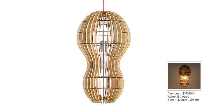 Originálne závesné drevené svietidlo z kolekcie iWood - PEANUT