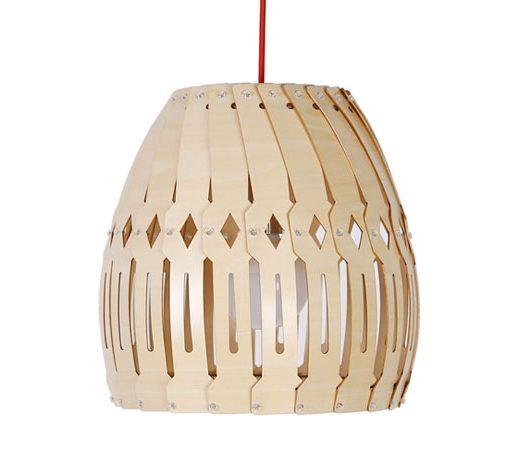 Originálne závesné drevené svietidlo z kolekcie iWood - ROLETA