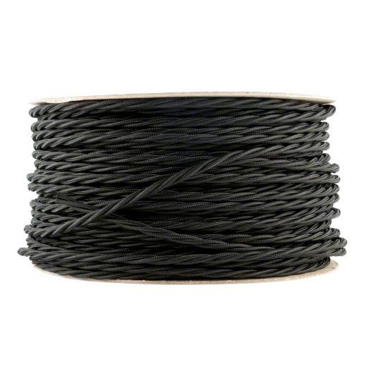Kábel-dvojžilový-skrútený-v-podobe-textilnej-šnúry-v-čiernej-farbe-2-x-0.75mm-1-meter