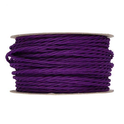 Kábel-dvojžilový-skrútený-v-podobe-textilnej-šnúry-v-tmavo-fialovej-farbe-2-x-0.75mm-1-meter-1