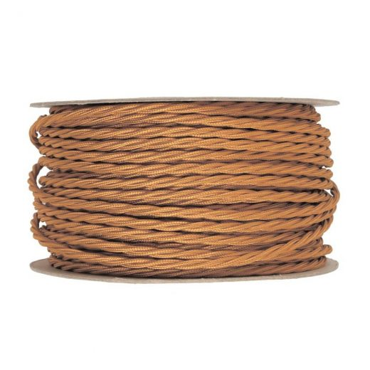 Kábel-dvojžilový-skrútený-v-podobe-textilnej-šnúry-v-zlatej-farbe-2-x-0.75mm-1-meter