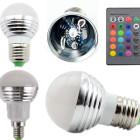 LED RGB žiarovka na diaľkové ovládanie, 16 funkcií, 5W2