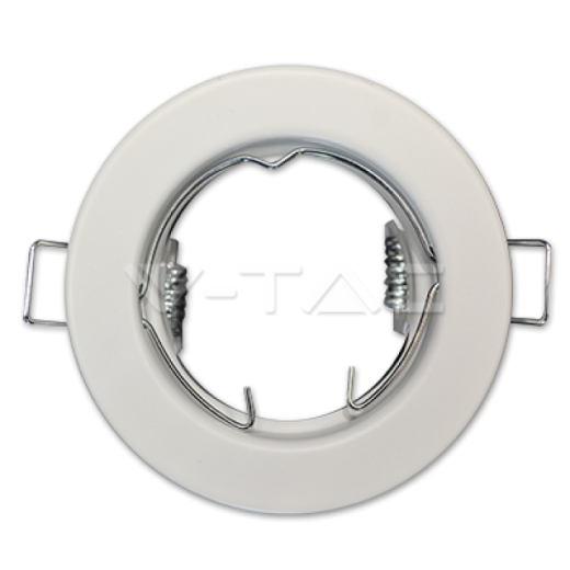 Rámik okrúhly nevýklopný biely - 2 kusy, V-TAC