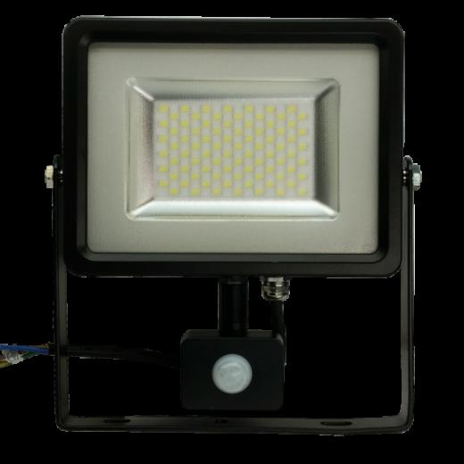 LED reflektor so senzorom - 50W Premium, 4000lm, Studená biela
