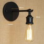 Historické nástenné svietidlo na žiarovky typu E27 v čiernej farbe2