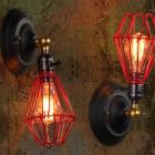 Historické nastaviteľné nástenné svietidlo s klietkou vo farbách2