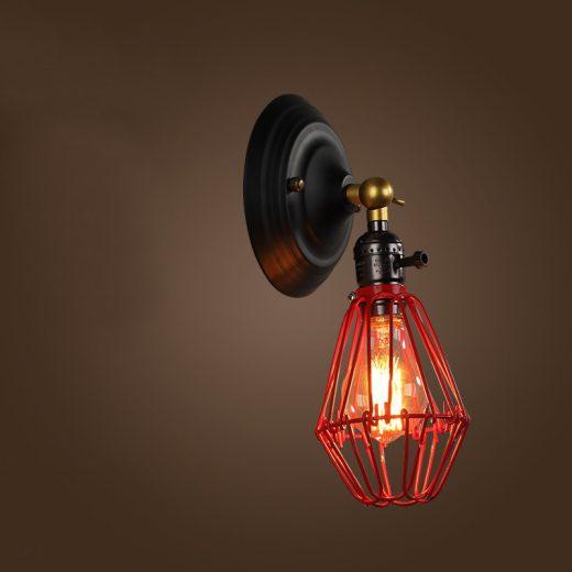 Historické nastaviteľné nástenné svietidlo s klietkou vo farbách7