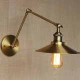 Historická nástenná lampa Alton v zlatej farbe (2)