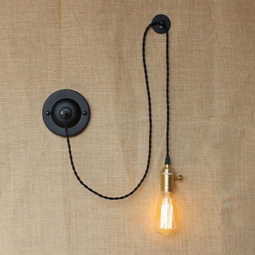 Retro nástenné svietidlo Wandlamp s úchytom na stenu (3)