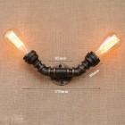 Priemyselné nástenné svietidlo Edith s dvomi päticami1