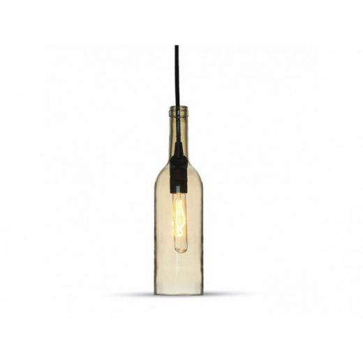 Historické závesné svietidlo Bottle Amber so skleneným tienidlom