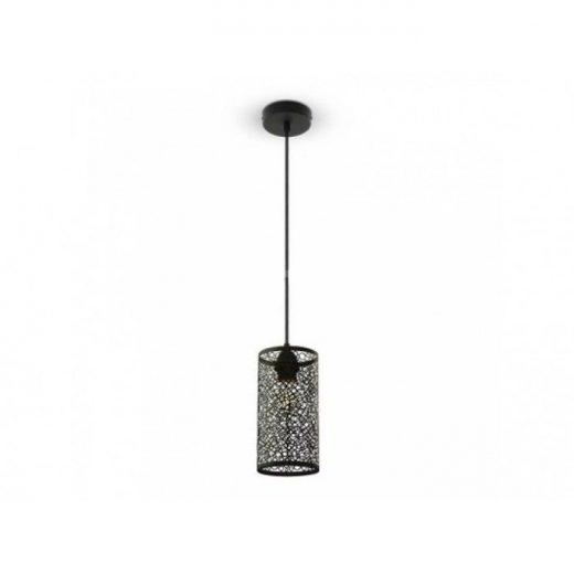 Závesné retro svietidlo Cylinder vo svetlo čiernej farbe (2)
