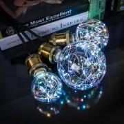 Dekoračná LED žiarovka EDISON, E27, 150lm, Globus, RGB..