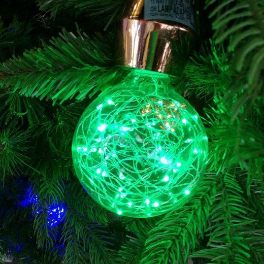 Dekoračná LED žiarovka EDISON, E27, 150lm, Globus, Zelená (2)