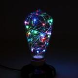 Dekoračná LED žiarovka EDISON, E27, 150lm, Teardrop, RGB (1)