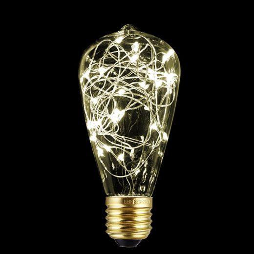 Dekoračná LED žiarovka EDISON, E27, 150lm, Teardrop, Teplá biela (1)