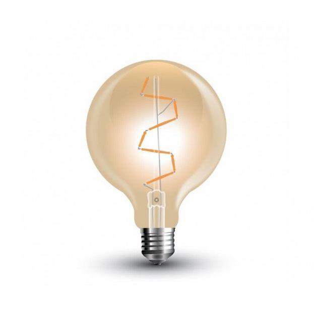 FILAMENT žiarovka - Globus - E27, 4W, 600lm, Teplá biela