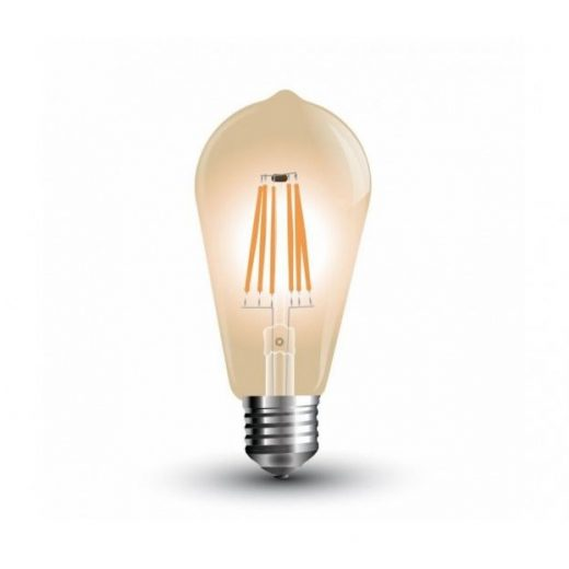 FILAMENT žiarovka - Teardrop - E27, 4W, 300lm, Teplá biela, Stmievateľná