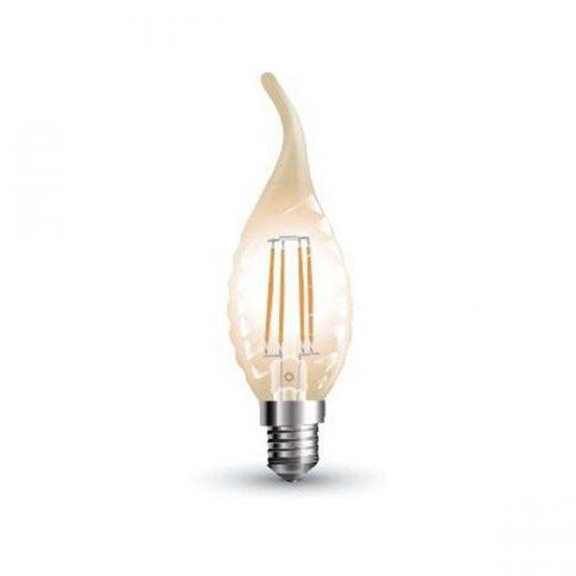 FILAMENT žiarovka - Decor Spike Candle - E14, 4W, 350lm, Teplá biela
