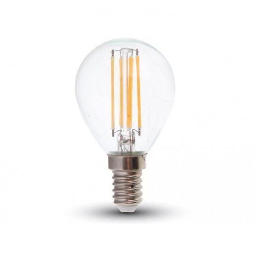 FILAMENT žiarovka - Oval - E14, Teplá biela, 4W, 400lm, V-TAC