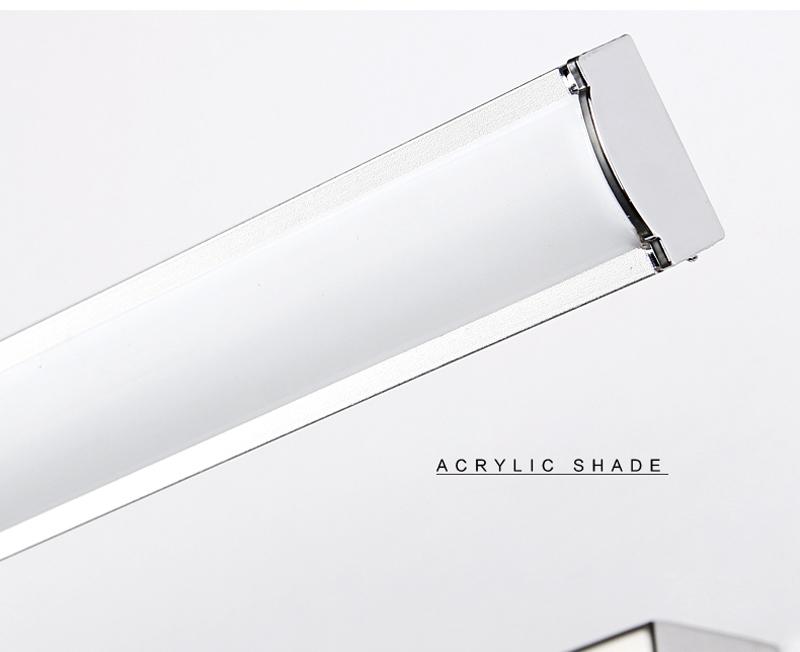 LED 7W nástenné svietidlo s nerezovej ocele, teplá biela (2)