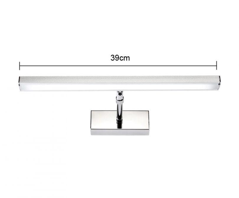 LED 7W nástenné svietidlo s nerezovej ocele vysokej kvality určené do kupeľne, wc, kuchyne a pod (2)