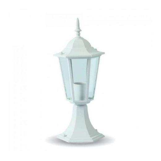 Stojanové záhradné historické svietidlo v bielej farbe