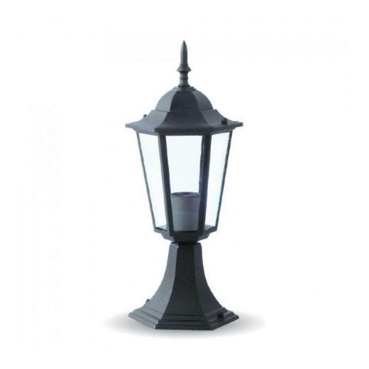Stojanové záhradné historické svietidlo v čiernej farbe