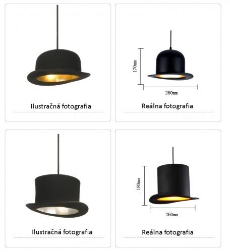 Kreatívne závesné svietidlo Jeeves v zlatej farbe na žiarovky typu E27 je svietidlo určené na strop v kreatívnom vzhľade historického klobúka13 456x500 - Kreatívne závesné svietidlo Wooster v zlatej farbe