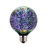 3D FIREWORKS, LED Dekoratívna žiarovka - Sphere, E27, 5W, 100lm